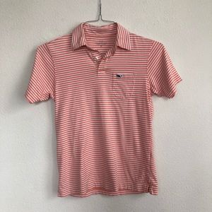 Vineyard Vines Striped Short Sleeve Polo Shirt 12